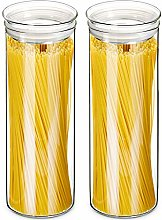 ZENS Glass Pasta Storage Containers, Airtight Tall