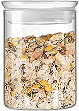 ZENS Glass Storage Jar | Airtight Lid with Silicon