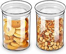 ZENS Glass Storage Jars, Airtight Clear Biscuit
