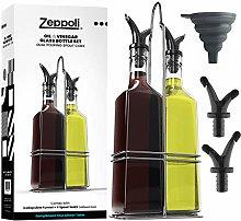 Zeppoli Oil and Vinegar Bottle Set with Stainless
