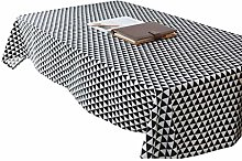 ZEQUAN Rectangular Table Cover Washable Cotton