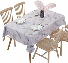 ZEQUAN Reusable PVC Tablecloth With Dust and Water