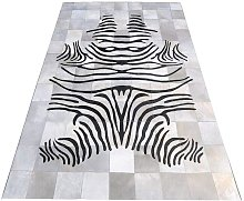 Zerimar Cowhide Area Rug, 55x78 in, Area Rugs for