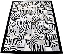 Zerimar Cowhide Area Rug, 66x94, Area Rugs for