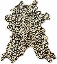 Zerimar Natural Cowhide Area Rug Satined Leopard |