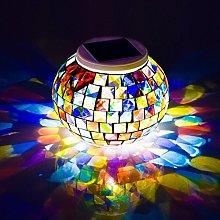 Zerobox Solar Powered Mosaic Glass Ball Garden