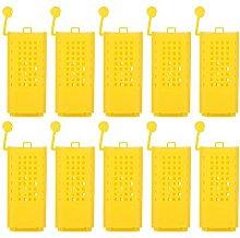 Zerodis 10Pcs Beekeeping Rearing Cup Kit Plastic