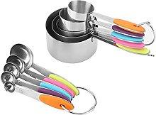 Zerodis 10pcs Stainless Steel Measuring Spoons