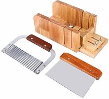 Zerodis 3PCS Soap Mold Loaf Cutter Set, Wood Soap