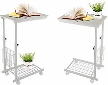 Zerone C Shaped Side End Table, Mobile Laptop