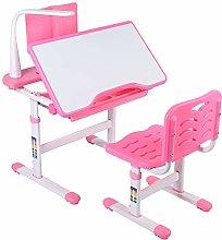 Zerone Children Study Desk Chair Set, Height