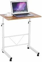 Zerone Computer Desk Laptop Rolling Cart, Modern