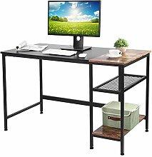 Zerone Computer Desk Study Desk, Black Oak