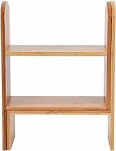 Zerone Desktop Bookshelf Adjustable Countertop
