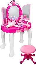 Zerone Dressing Table Toy, Portable Girls Pink