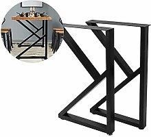 Zerone Metal Furniture Legs, 1 Pair Industrial