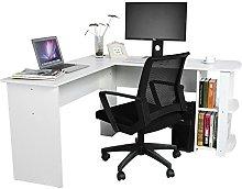 Zerone Office Table Wooden Corner Desk, Computer