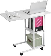 Zerone- Over Bed Table, Rolling Laptop Table