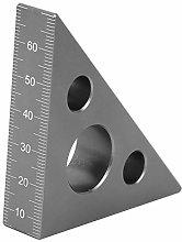 Zerone Right Angle Ruler,45/90 Degrees Matte