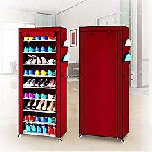 Zerone Shoe Rack Cabinet, 10 Tiers DIY Shoe