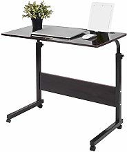 Zerone Wheeled Laptop Desk with Adjustable Height,