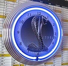 ZEROPOINT-SHOP NEON CLOCK MUSTANG SHELBY COBRA