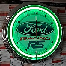 Zeropoint Store Neon Clock–Ford Racing RS