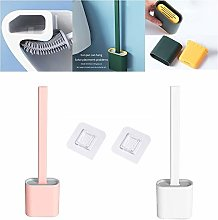 ZEWAN [2 packs] Silicone Toilet Cleaning Brush