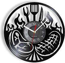 ZFANGY Barbecue Kitchen Vinyl Record Wall Clock