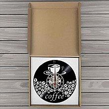 ZFANGY Vinyl Wall Clock Coffee Bean Art Wall