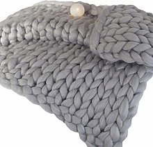 ZFF Chunky Knit Blanket For Decoration Acrylic