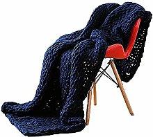 ZFF Chunky Knitted Blanket Handmade Giant Soft