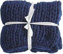 ZFF Handmade Giant Soft Chunky Knitted Blanket