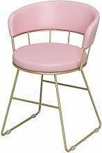 Zfggd bar stool Iron Chair, Backrest Chair Dresser