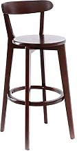 Zfggd bar stool Solid Wood Stool Artist Swivel