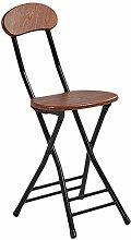 Zfggd Folding Chair Portable Stool Backrest