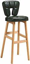 Zfggd High Back Bar Chair, Bar Stool KTV Cashier