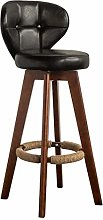 Zfggd Indoor Swivel Bar Stool with Back and Wooden