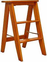 Zfggd Multifunctional Solid 3 Steps Wood Folding