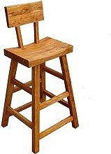 Zfggd Solid Wood Bar Stool Bar High Back Stool