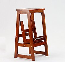 Zfggd Solid Wood Step Stool, Home Thickening