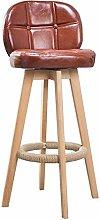 Zfggd Wooden Bar Stools With Ergonomics Backrest