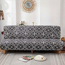 ZFHNY Armless Sofa Slipcover with 1 Pillow