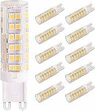 ZFQ 10 Pieces G9 Base LED Bulb 7W LED Light, 76