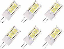ZFQ 6-Pack G4 AC/DC 12V LED Light Bulb, 5 Watt,