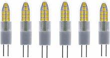 ZFQ 6-Pack G4 LED Light Bulbs 3W Energy Saving LED