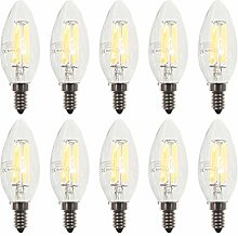 ZFQ Pack of 10 E14 Candle LED Lamp for Chandelier,