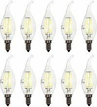 ZFQ Pack of 10 Edison LED Bulb E14 C35 Led
