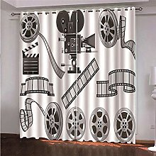 ZFSZSD 2 Panels Blackout Curtains Movies & Films