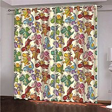 ZFSZSD Bedroom Blackout Panels Cartoon & Dinosaur